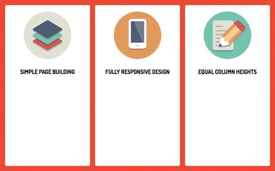ستونهای طراحی سایت با ارتفاع یکسان
